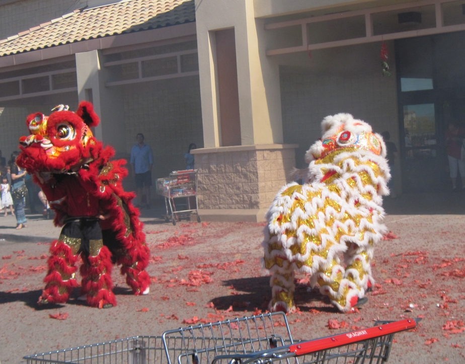 Unexpexted Lion Dance
