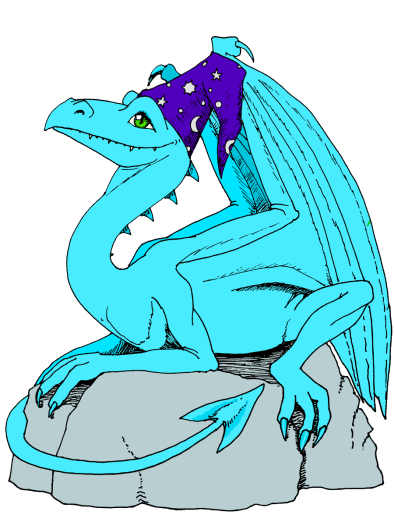 Dragon with hat color 900
