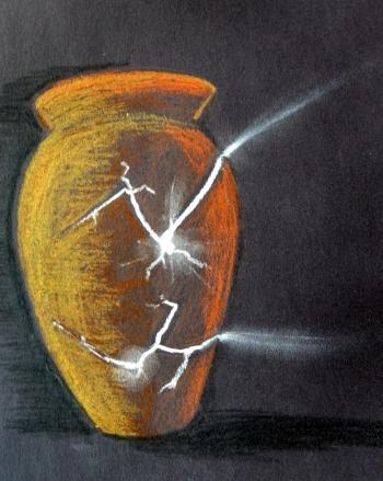 glowing urn