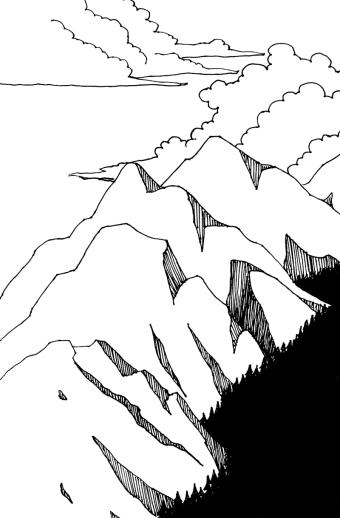 mountains and clouds 800