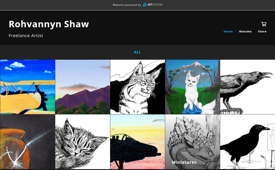 art station main page.PNG