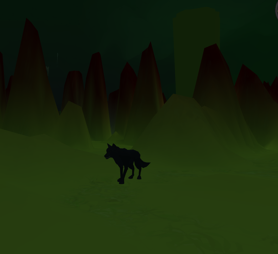 Wolf in Cave
